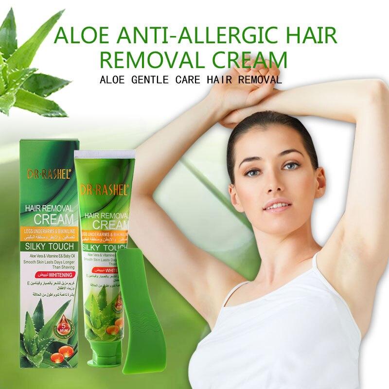 DR RASHEL Aloe Vera Hair Removal Cream Vitamin E Legs Underarm Bikini Line Depilatory Cream 110 Ml