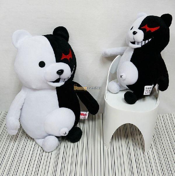 Fancytrader 28\'\' 70cm 2 pcs Giant Stuffed Cute Plush Monokuma and Monomi, Free Shipping FT50353 (2)