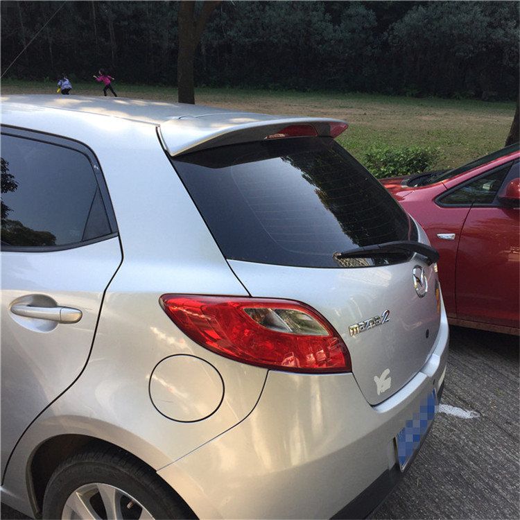 Osmrk unpainted ABS tail wing rear <font><b>spoiler</b></font> roof visor for <font><b>mazda</b></font> <font><b>2</b></font> image