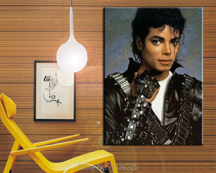 US $150 0 50% OFF|Decorative wall stencil hand painted michael jackson oil  painting canvas wall art for home decor wall decoraction-in Painting &