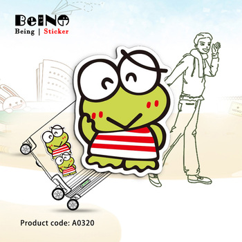 Smiling frog Cartoon Friendly Animal Sticker Waterproof Suitcase Laptop Guitar Luggage Skateboard Toy Lovely A0320 Stickers QY32