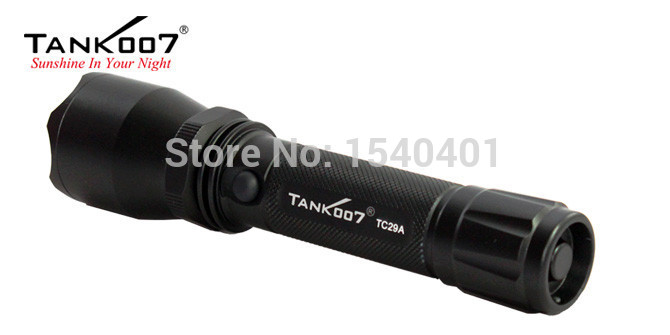 Free Shipping TANK007 TC29A 3-modes CREE XR-E Q5 most powerful led rechargeable flashlight Torch 1*18650 цена 2017