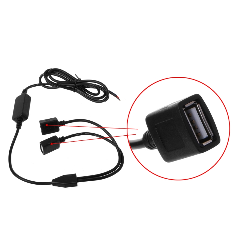 Image 5 - Car Charger Dual USB Female Plug 12V to 5V 3A DC to DC Power Supply Converter For DVR-in Cables, Adapters & Sockets from Automobiles & Motorcycles