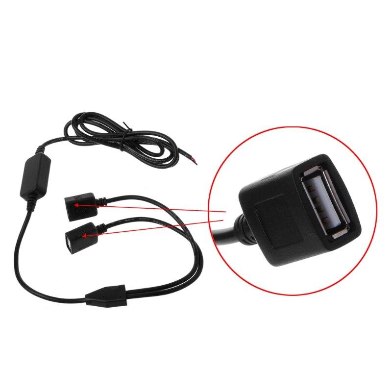Image 5 - Автомобильный Зарядное устройство Dual гнездовая часть usb разъема от 12 В до 5 В пост 3A постоянного тока в переменный ток Питание конвертер для DVR-in Кабели, адаптеры и разъемы from Автомобили и мотоциклы