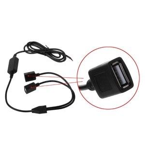 Image 5 - شاحن سيارة مزدوجة USB الإناث المكونات 12 V إلى 5 V 3A DC إلى DC محول لإمداد الطاقة ل DVR
