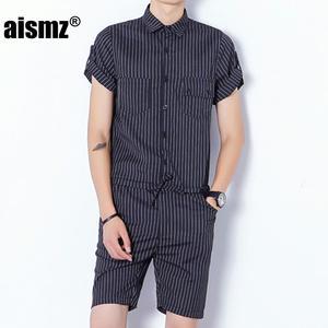 7efd76944c59 Aismz Mens Rompers Male Slim Fit Jumpsuit Tops Trousers