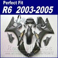 Абсолютно Новый Мотоцикл частей для YAMAHA R6 обтекатель комплект 2003 2004 2005 матовый черный обтекатель YZF Обтекатели 03 04 05