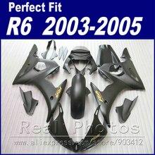 Новый мотоцикла для Yamaha R6 комплект обтекателей 2003 2004 2005 матовый черный обтекатель YZF Обтекатели 03 04 05