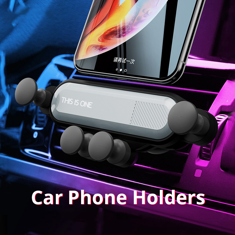 Telescopic Gravity Car Phone Holder For IPhone Samsung Huawei Stand For Phone Holder In The Car Bracket For Phone Navigation