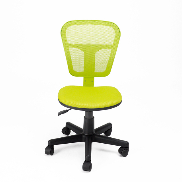 Aingoo Ergonomically Office Computer Chair Without Arms With Fabric Pads  Height Adjustable 360 Degree Rotating Wheel