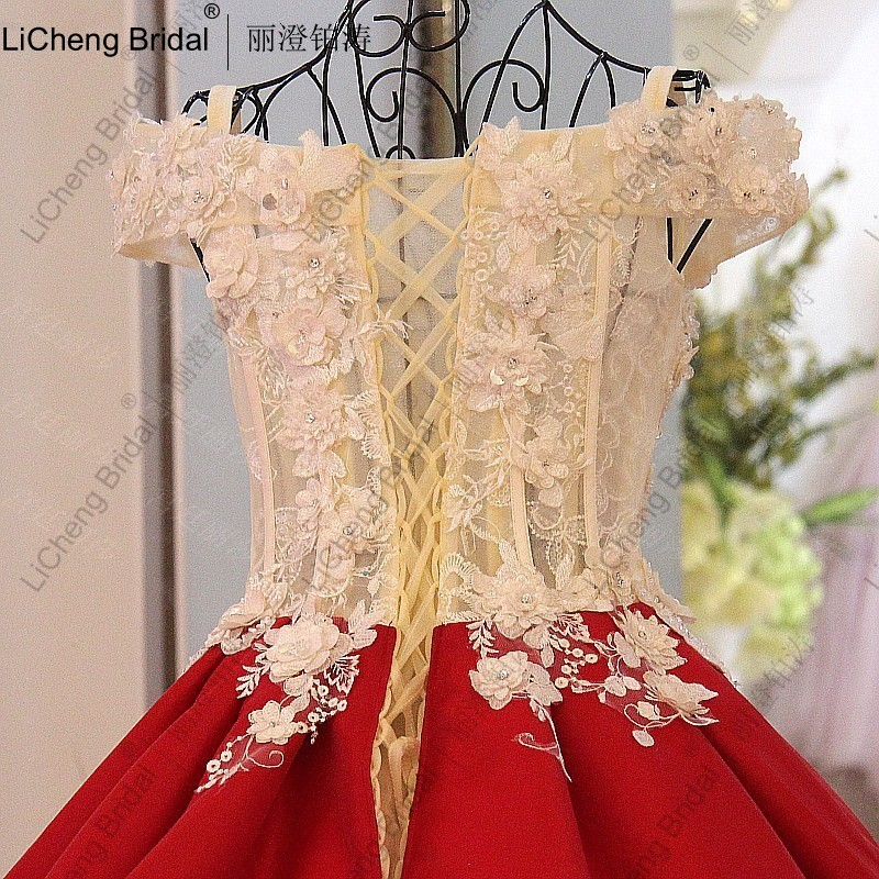 New Style Wedding Dresses 2017 In : New palace style wedding dress red sexy backless bow retro