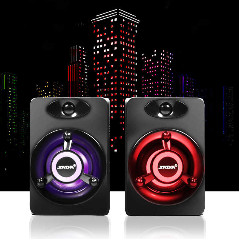 USB Subwoofer Bass PC Speaker Portabel Musik DJ Soundar Komputer Speaker untuk Laptop Ponsel TV