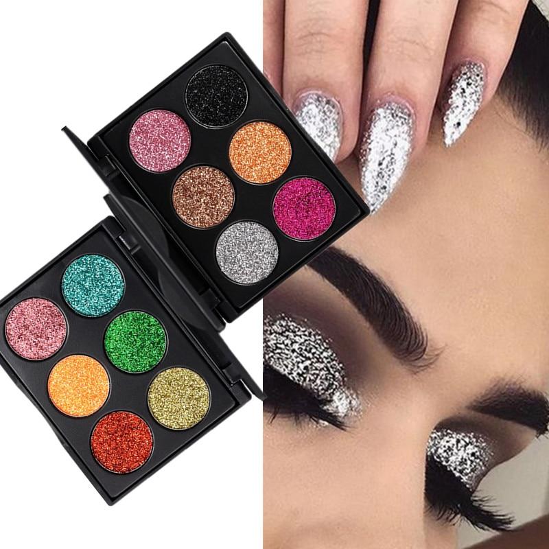 цена на Glitter Eyeshadow Cosmetics Pigment Profesional Makeup Eyeshadows Pallete Highlighter Powder Glitters Eye Shadow Face Make Up