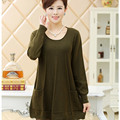 Middle - aged and old fat mommy Spring and winter sweater long section of fat plus yards middle - aged women knitted