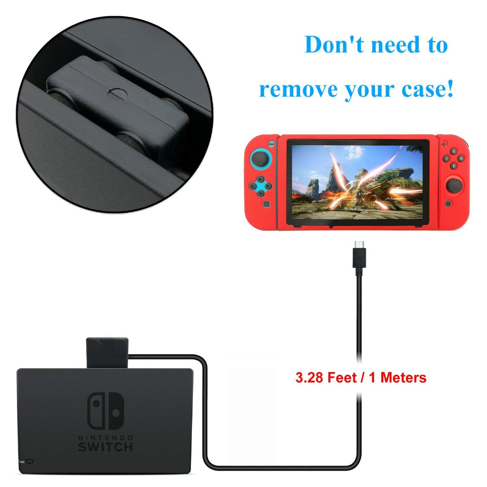Купить с кэшбэком Charging Extension Cable TV Dock Video Data Transfer M/F Line Cord For Nintend Switch Nintendo NS 10Gbps+Switch Playstand Hoder