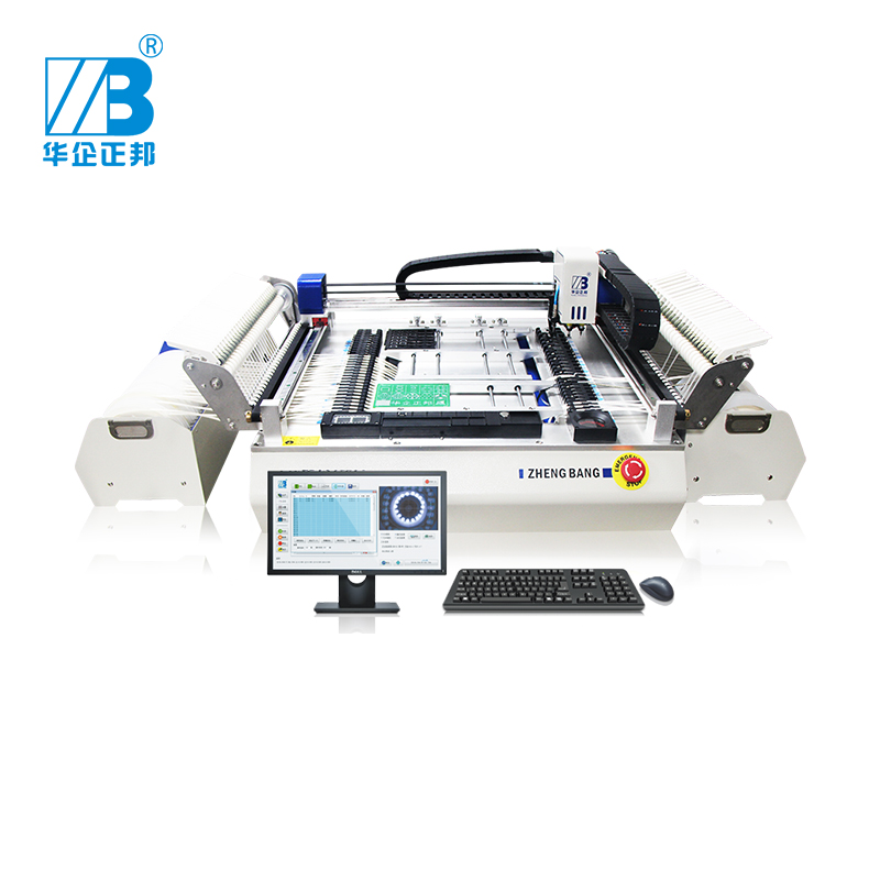 2019 new ZB3245TSS High Precise small desktop SMT pick and place machine with 54 feeder location