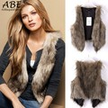 New Fashion Women Faux Fur Vest Coat Gilet Winter Warm Waistcoat Outwear Long Hair Hot Selling