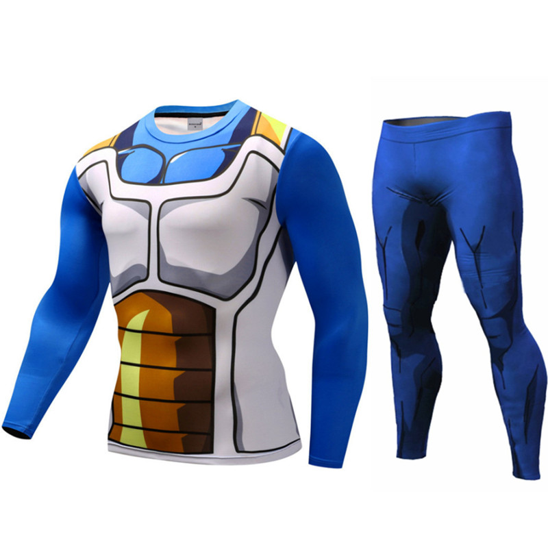Long Sleeve Dragon Ball Z T-shirts Super Son Goku Saiyan Tshirt Tights Compression Slim Fitness Legging Vegeta Cosplay Tee Shirt