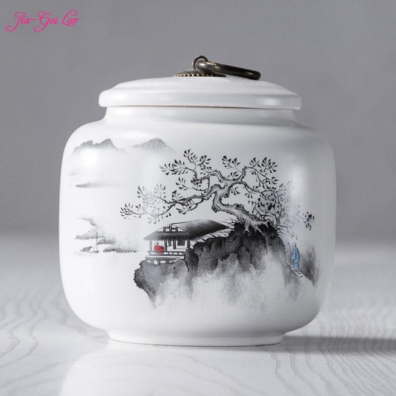Le Chinois en céramique boîte à thé est belle et élégante, il a valeur ornementale pour toutes sortes de fruits secs humidité-pro