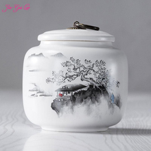 The Chinese ceramic tea box is beautiful and elegant,  it has ornamental value for all kinds of dried fruits moisture-pro