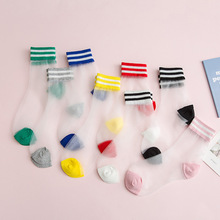 цена на Streetwear Women's Harajuku Candy Color Breathable tulle socks Sexy Hollow out Nets thin lace Socks Ladies Sweet Mesh Sox