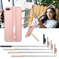 3 In1 Multifunction Selfie Stick Phone Case For iPhone 7 Plus Luxury Stand Holder Cover Case Self-timer Bar Functions For Girls