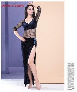 Image 5 - Belly Dance Practiceเสื้อผ้าฤดูหนาวใหม่กำมะหยี่เซ็กซี่เย็บDance Top Coatผู้ใหญ่ผู้หญิง