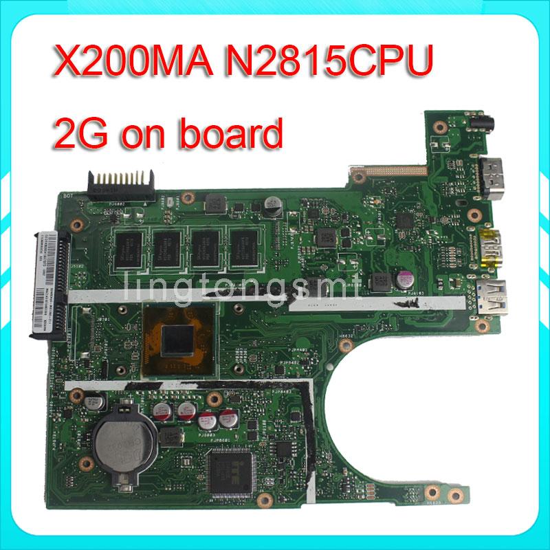X200M K200MA F200MA X200MA motherboard X200MA REV2.1 Mainboard 2G Memory On Board N2815CPU 100% test ipc floor pca 6114p10 rev b1 100% test