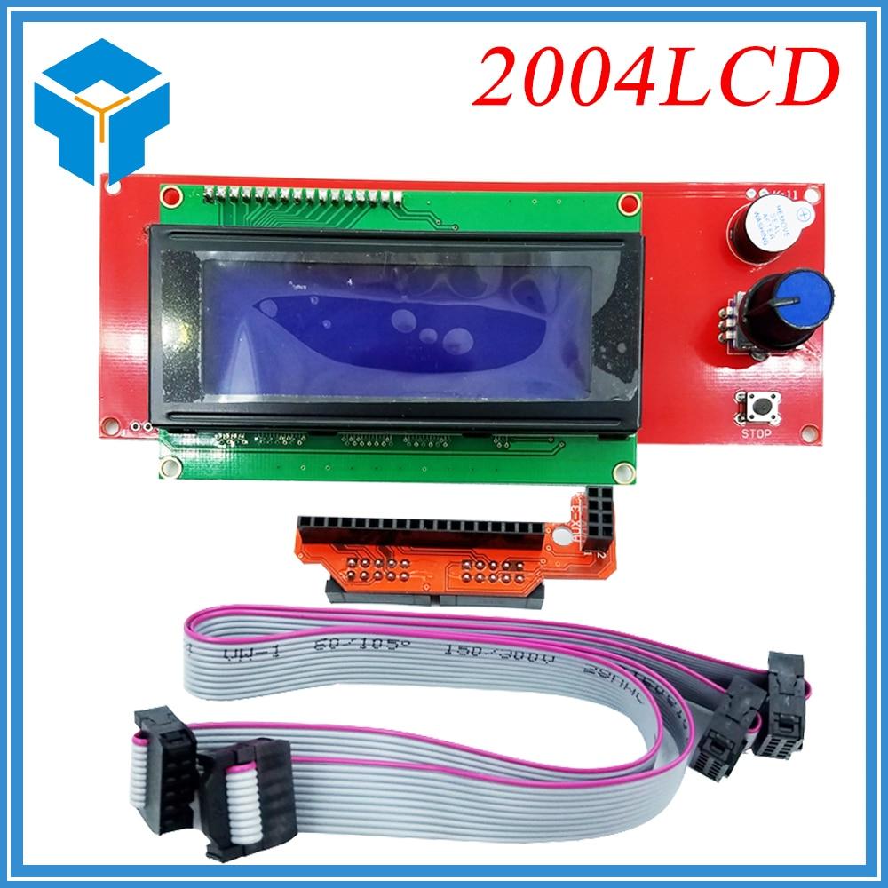 цена 1 Pcs LCD Display 3D Printer Reprap Smart Controller Reprap Ramps 1.4 2004LCD Control