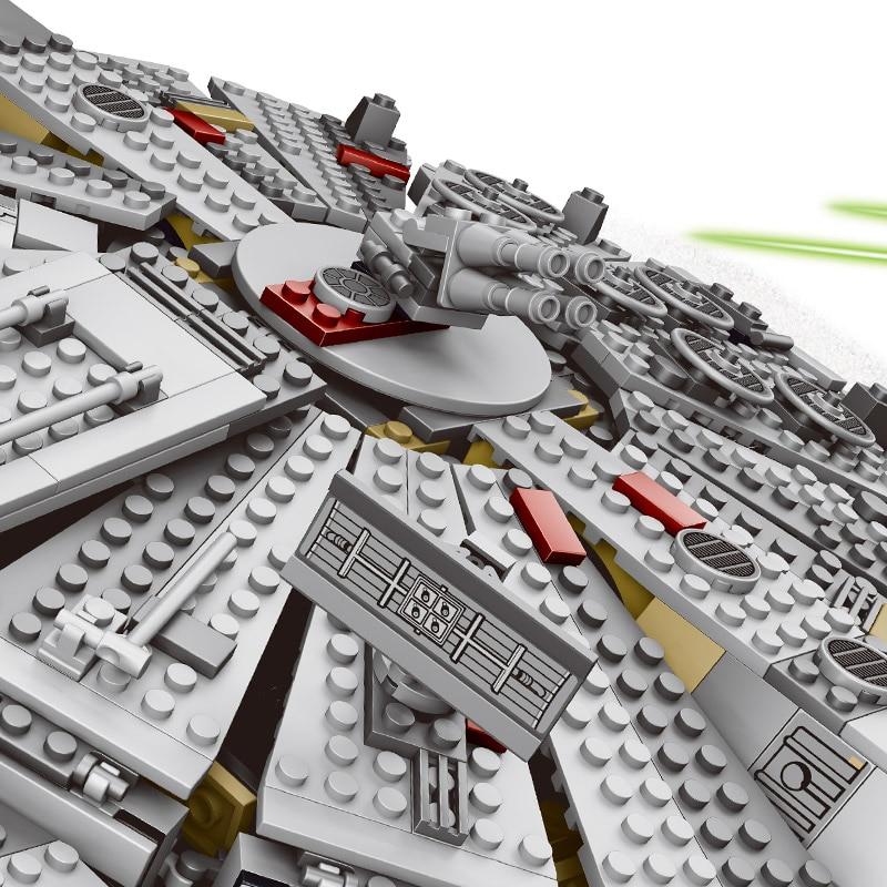 Jeu d'étoiles de réveil de Force série Wars Compatible LegoINGLYS 79211 figurines de faucon du millénaire modèle blocs de construction jouets pour enfants - 4