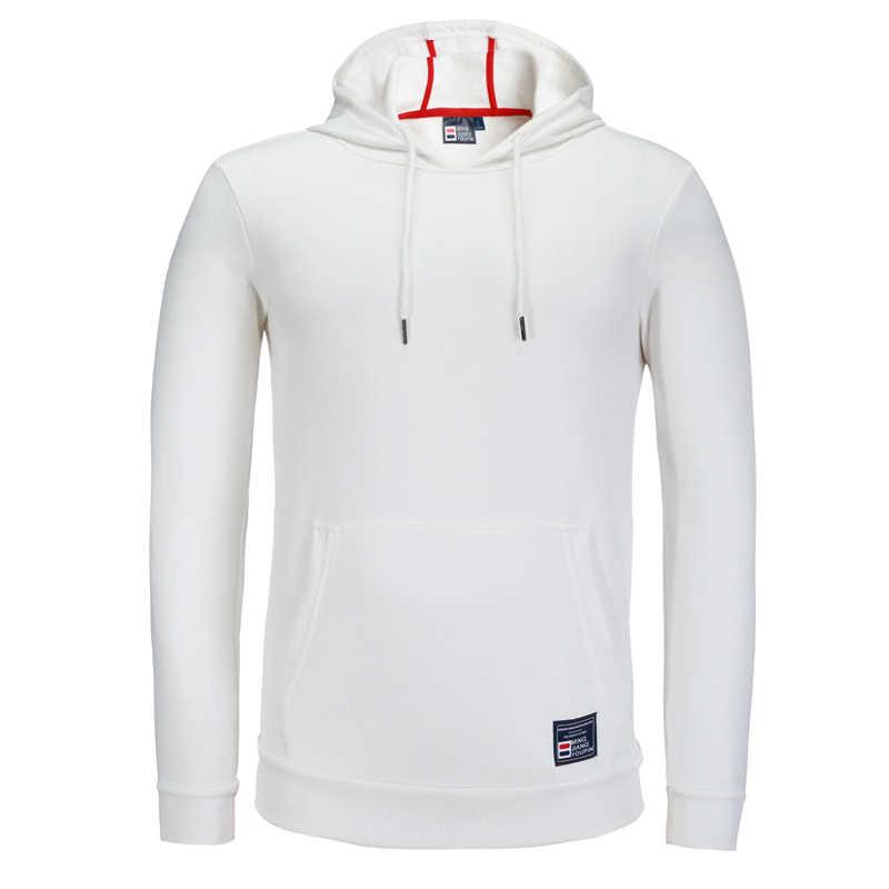 Pria Olahraga Sweater Berjalan Kemeja Jersey Latihan Sweater Pria Pullover Hoodie Olahraga Katun Musim Gugur Musim Dingin Menarik Homme
