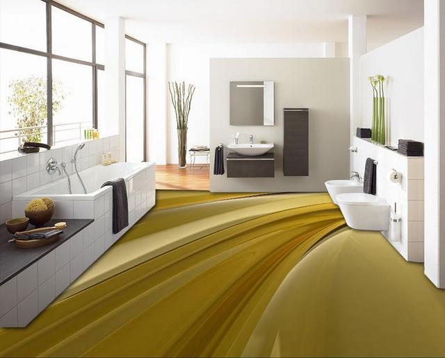 Custom 3d Waterproof Floor Cool Mobile Liquid Wallpaper Self Adhesive Modern Kitchen