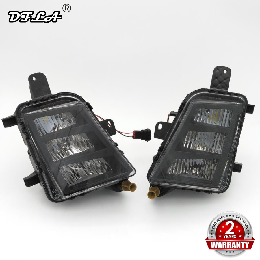 где купить GTI LED Light For VW Golf 7 GTI 2013 2014 2015 2016 2017 Car-Styling LED DRL Daytime Running Light Fog Light Fog Lamp по лучшей цене
