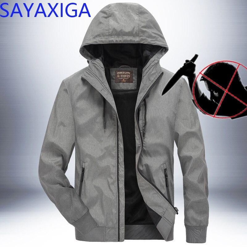 Новый дизайн самозащиты с защитой от ударов противоножевой одежды анти острый полицейский повседневный мужской пиджак пальто с капюшоном верхняя одежда Невидимый Топ