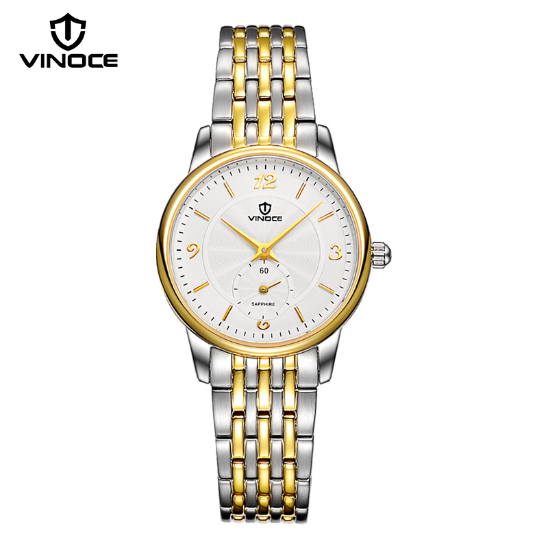 VINOCE Gold Quartz-Watch Women Stainless Steel Top Brand Luxury Business Women Watch Fashion 2018 Relogio Masculino brand fashion luxury watch women business