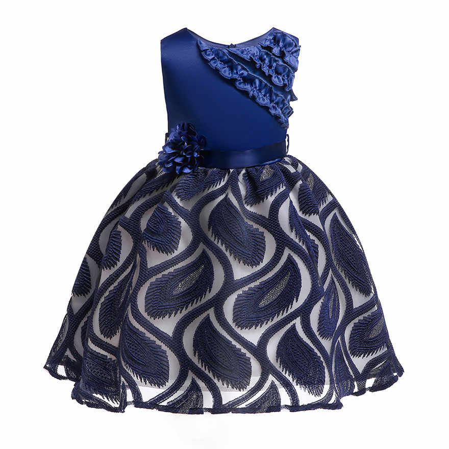 1dd46ab98bd06 Embroidery Floral Princess Dress for Kids Girls 2 4 6 8 10 Years Children  Clothes Baby Girls Birthday Dresses Kids Party Dresses