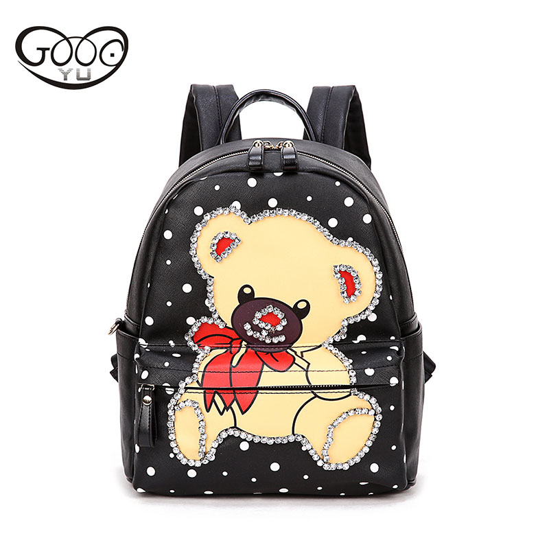 The new cartoon bear low school high school students bag fashion casual backpack Korean version of the hot selling promotional m perception of secondary school students towards inclusive education