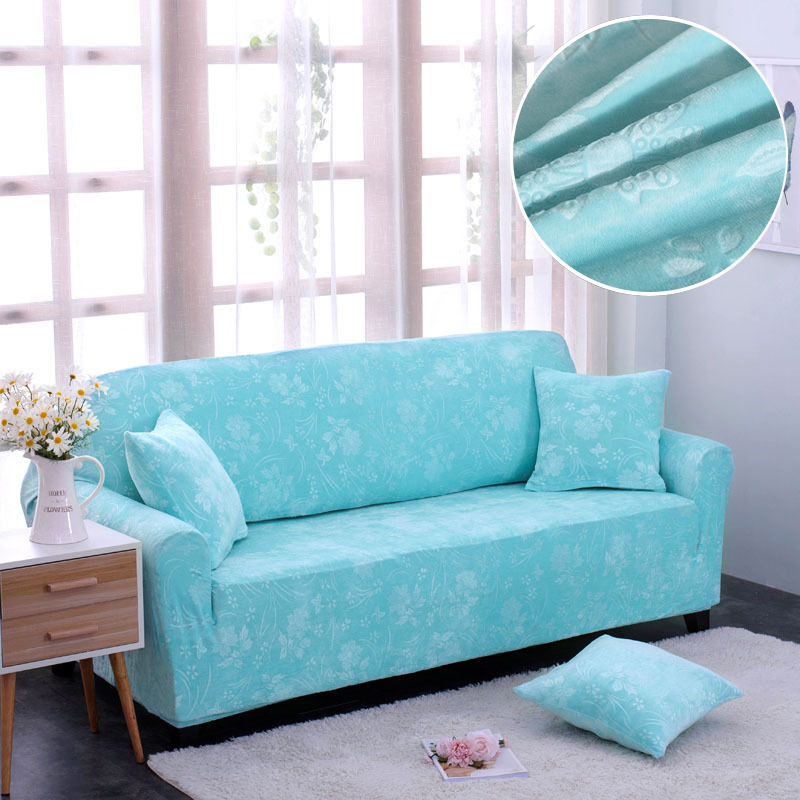 Velvet Fabric Thick Sofa Cover Stretch Seater Couch Cover