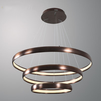 Современные Кольцо Круг коричневый промышленных светодиодный подвесной светильник 3 слоя подвесные светильники подвесного Hanglamp для жизни