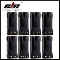 8x Eleoption 7 4V 1300mAh Ni CD Battery HNN9013 HNN9013B For MOTOROLA HT750 HT1225 HT1550 GP140
