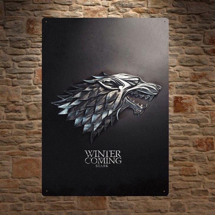 Juego de tronos tiene reina dragón Tyrion Lannister de la lata de placas de pared Decoración Para cuarto de hombre arte póster vintage retro de metal Colgante de ventana de bola de vidrio de arcoíris de Chakra de Metal en 3D, colgante de cristal hecho a mano con prismas de mariposa y corazón