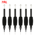 OPHIR 6PCS/Lot 7RL Sterile Disposable Tattoo Nozzle Needle Tips and Tube 3/4 Grip _TA110(7RL)-6x