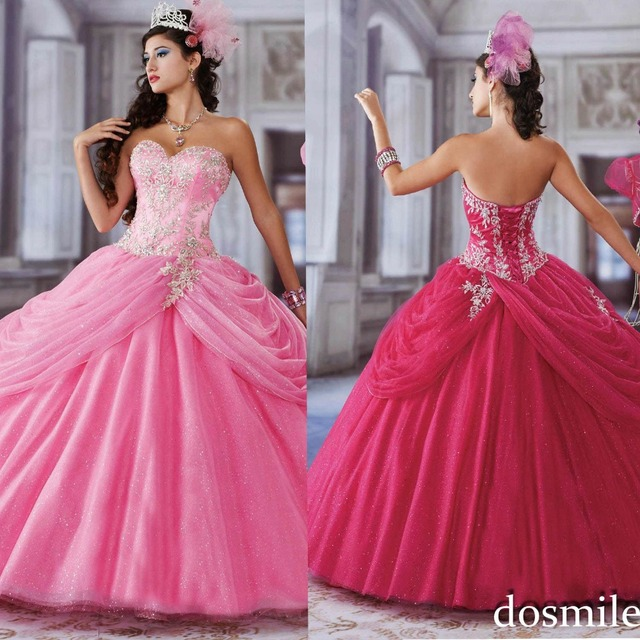 0cfffa697e4 2016 royal blue hot pink appliques beaded sweetheart skirt long tulle sweet  16 dresses ball gown quinceanera dress with bolero