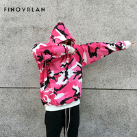 2018 Red HIP HOP Camouflage Hoodie Men Fashion Sweatshirts Brand Orignal Design Casual Pullover For Me