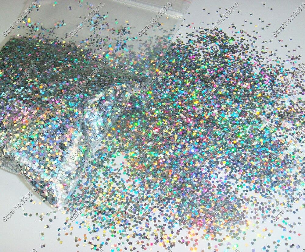 50 Gram X Holographische Laser Schwarz Farben Glitter Mix Hexagon Paillette Spangle Pulver Form Für Nail Art Glitter Handwerk Dekoration Nagelglitzer Schönheit & Gesundheit