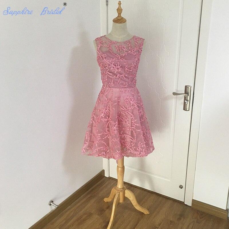 Moderno Vestido Alto Bajo La Dama De Honor Festooning - Colección ...