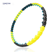 8 Parts Detachable Double Row Magnetic Hula Hoop Lose Weight Slim With Biggest Diameter 110cm Fitness