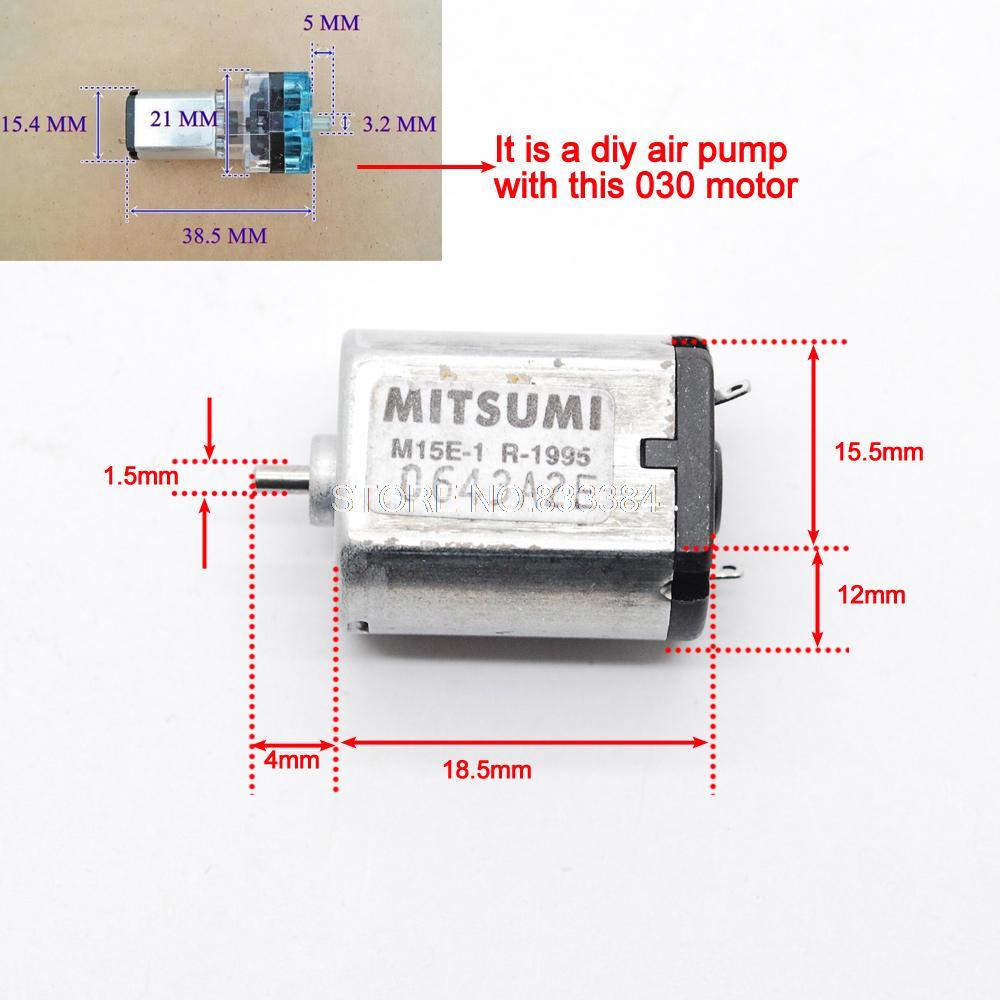 10 шт. mitsumi 3-6 В DC Micro 030 Двигатель 120ma-150ma 9500 об./мин.-19500 об./мин. мини Двигатель отлично подходит для DIY Micro Air Pump
