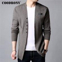 COODRONY кардиган мужской повседневный вязаный хлопковый шерстяной свитер Мужская одежда осень зима новые мужские Свитера и кардиганы пальто B11