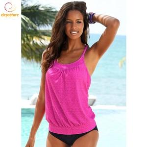 Image 2 - 2020 ชุดว่ายน้ำ Tankini ผู้หญิง Retro ชุดบิกินี่ชุดว่ายน้ำบราซิลชุดว่ายน้ำ VINTAGE ชุดว่ายน้ำเอวสูงชุด Tankini Beachwear